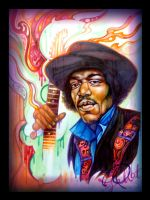 psychedelic hendrix by Pallat
