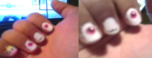 Kyubey Nails by AppleMae