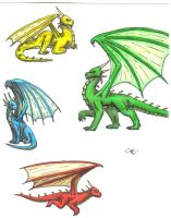 The Eragon Dragons by Leithster