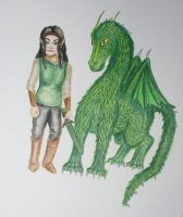 Arya and Firnen coloured by T-Arya
