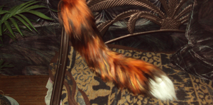 Fox yarn tail by Ibbins