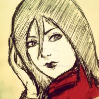 Mikasa (doodle) by CrakeYoung