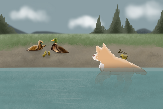 Eddy the Lazy Duckling by ScandinavianMutt