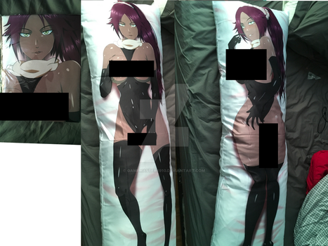 At last my yoruichi body pillow by gamemaster8910