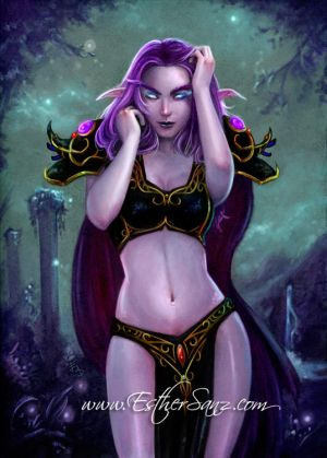 world of warcraft fan art. Night Elf World of Warcraft