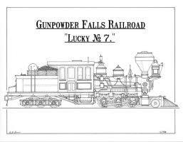 "Gunpowder Falls Railroad ""Lucky"" No. 7 by gunslinger87"