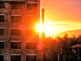 Sunrise in the city by Yuleto