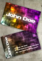 Bokeh II Business Card by Freshbusinesscards