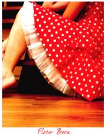 dotted red dress by flocska