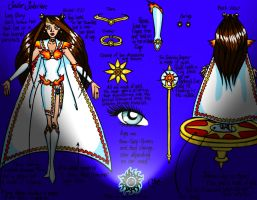 Sailor Solarion Reference Sheet Colored Version by JoJiaMystie