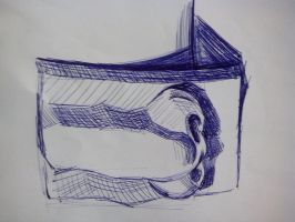 Ballpoint pen sketch nose by Ovilia1024