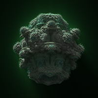 Mandelbulb in shadow by cab1n