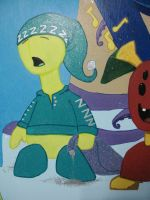 Baby Room Mural detail 5 by Myndtwitch