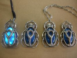 Scarab pendants.. by Michael-Day