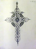 Celtic cross by IrishArtiste