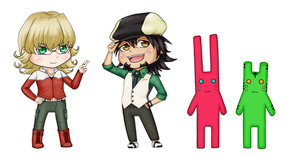 Tiger and Bunny Stickers by raynubu