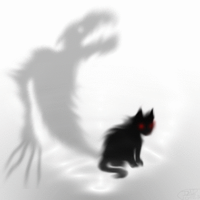 Spastic Flashing Shadow Cat Animation Thing by RoomsInTheWalls
