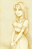 Request: Zelda from aLttp manga for Kiki566 by markuro