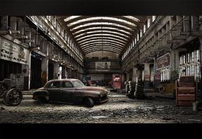 Abandoned Car Workshop by shadothezombie