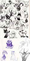 Animal Doodles by ArtistsBlood