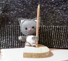 Cat Pencil Holder by R-A-W-R