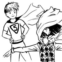 Hikaru and Touya are superheroes? by skays