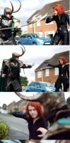 Loki Vs Black Widow  by sasukeharber