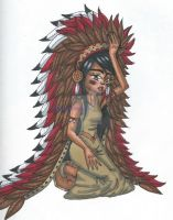 Native American girl by TheLuckyStarhopper
