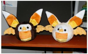Candy Corn Bats by StarMassacre