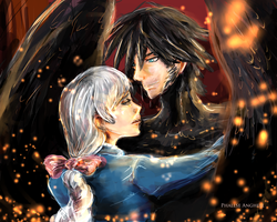 Howl and Sophie by PhallseAnghell