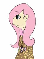 Human Fluttershy by Wolfhorsegirly