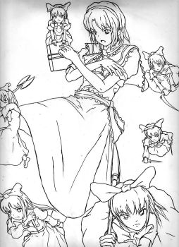 Alice, Touhou practice by Chickenlover13