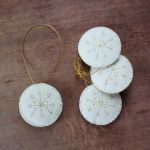 Felt snowflake ornament by WhiteSquaw