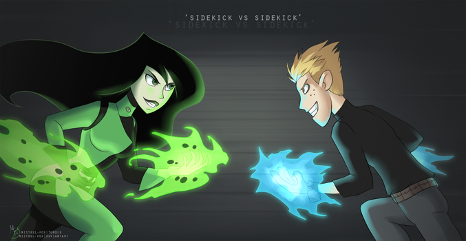 Sidekick vs sidekick by Mistrel-Fox