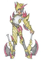 PokeMonsterHunter - Haxorus Weapon and Armor by Aonon