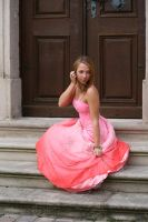 Pink dress stock 10 by Malleni-Stock