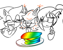 Rainbow Pancakes! by Hellishly-Sweet