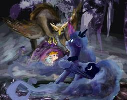 Luna And owlbear by SuperRobotRainbowOwl