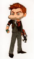 Booker DeWitt Chibi by RedMedKit