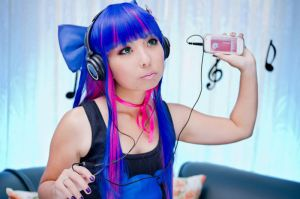 Anarchy Stocking with headphones by andyamasaki