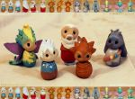 Clay Guardians by Rockabell-Neko