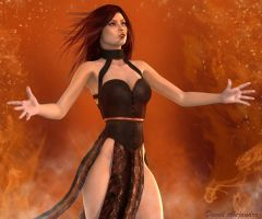 Playing with Fire... Aicka by Pitoxlon