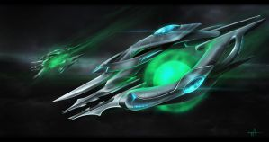 StarCraft 2 HotS - Oracle by worthart