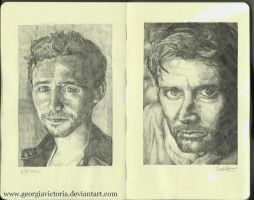Moleskine: Hiddleston and Tennant. by GeorgiaVictoria