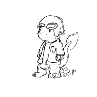 Jake The char in a Flight Jacket (Day 21) by BigFootJake