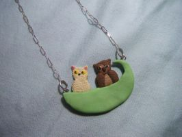 The Owl and the Pussycat Necklace by Mercury-the-Queen