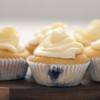 blueberry cupcakes by photofairy