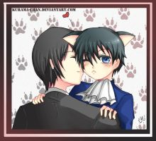 -- Sebastian loves cats -- by Kurama-chan