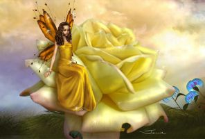 Yellow Rose Faery by sweetcivic