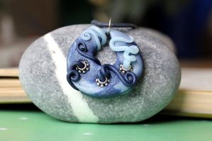 Triton polymer clay necklace by Sakiyo-chan